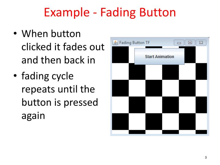 Example fading button