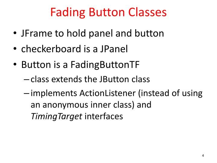Fading Button Classes