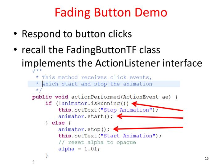 Fading Button Demo