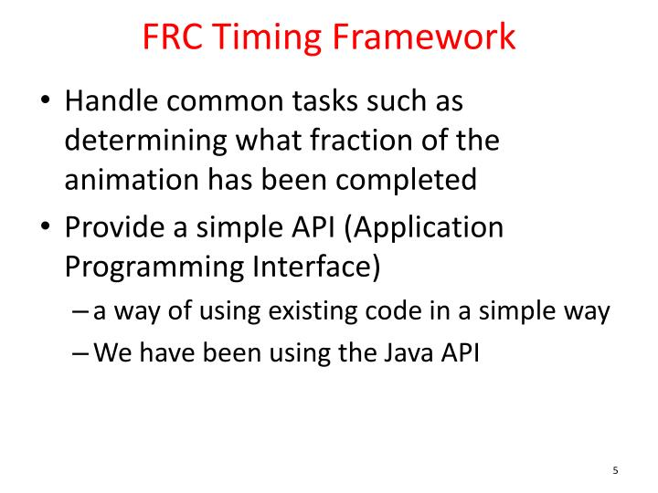 FRC Timing Framework