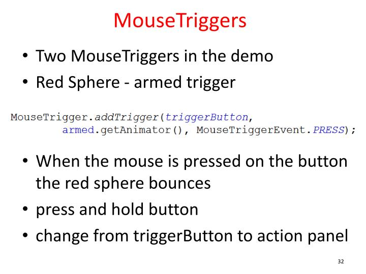 MouseTriggers