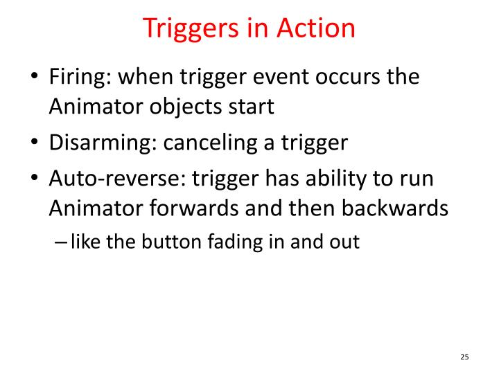 Triggers in Action