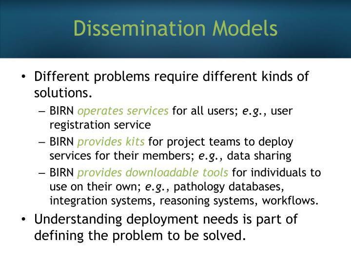 Dissemination Models