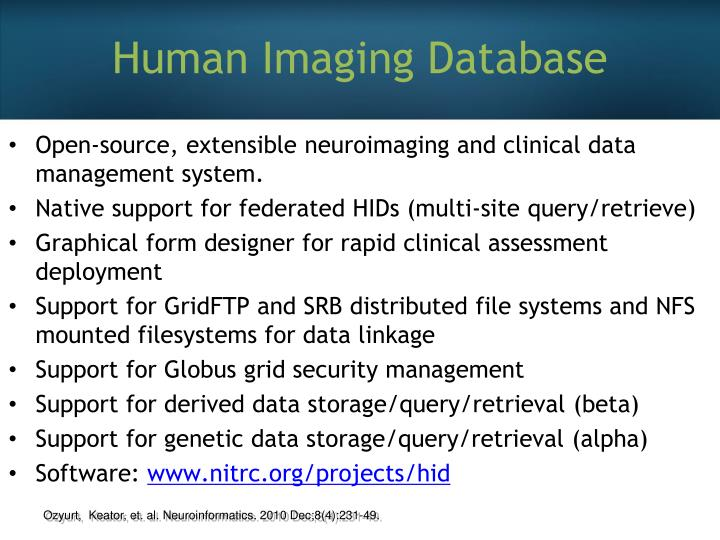Human Imaging Database