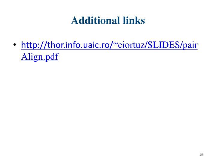 Additional links