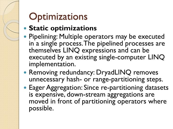 Optimizations
