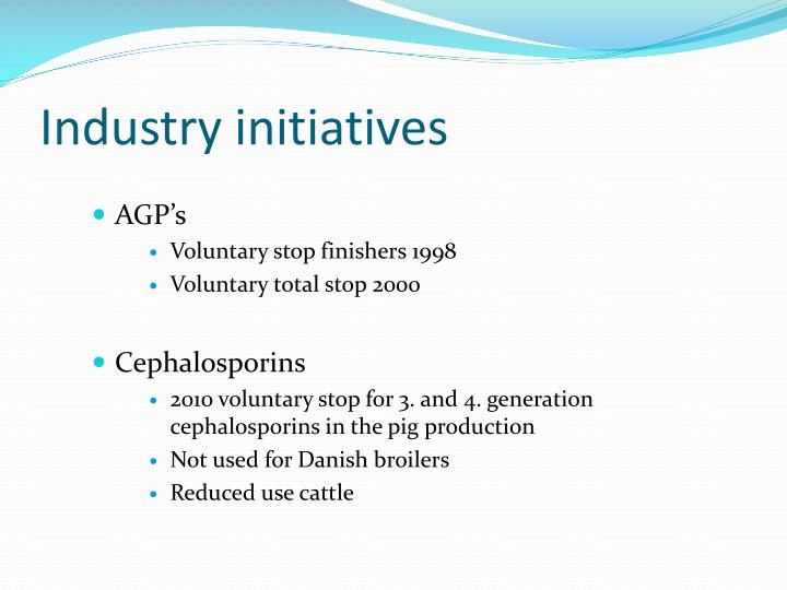Industry initiatives