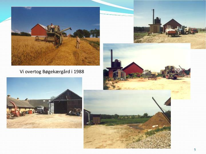 Vi overtog Bøgekærgård i 1988