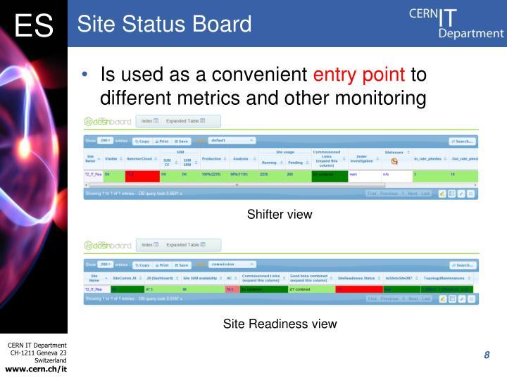 Site Status Board
