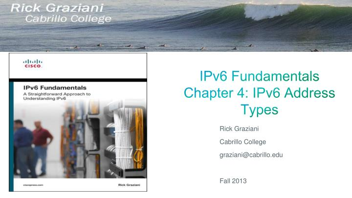 ipv6 fundamentals chapter 4 ipv6 address types