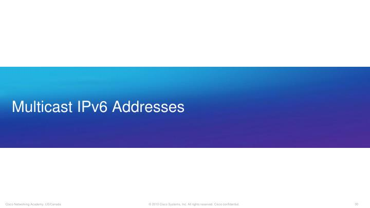 Multicast IPv6 Addresses
