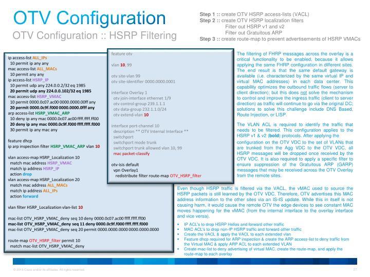 OTV Configuration