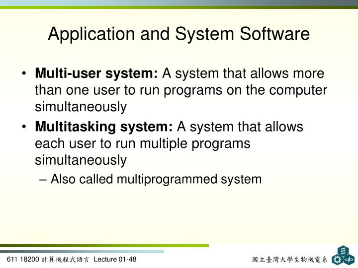 Application and System Software