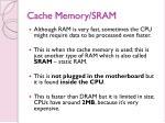 cache memory sram
