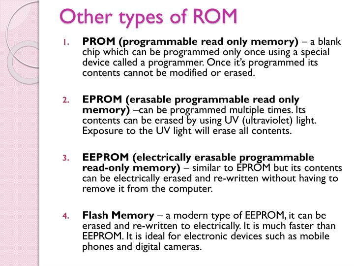 Other types of ROM