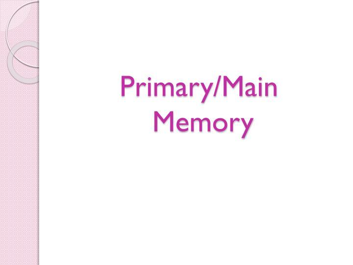 Primary/Main