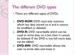 the different dvd types