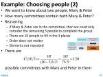 example choosing people 2