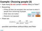 example choosing people 3