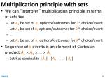 multiplication principle with sets