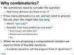 why combinatorics