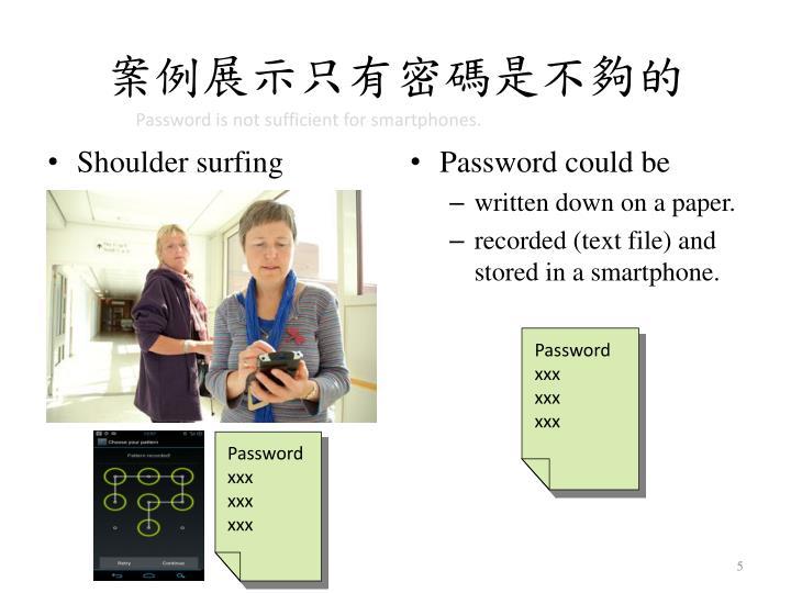 案例展示只有密碼是不夠