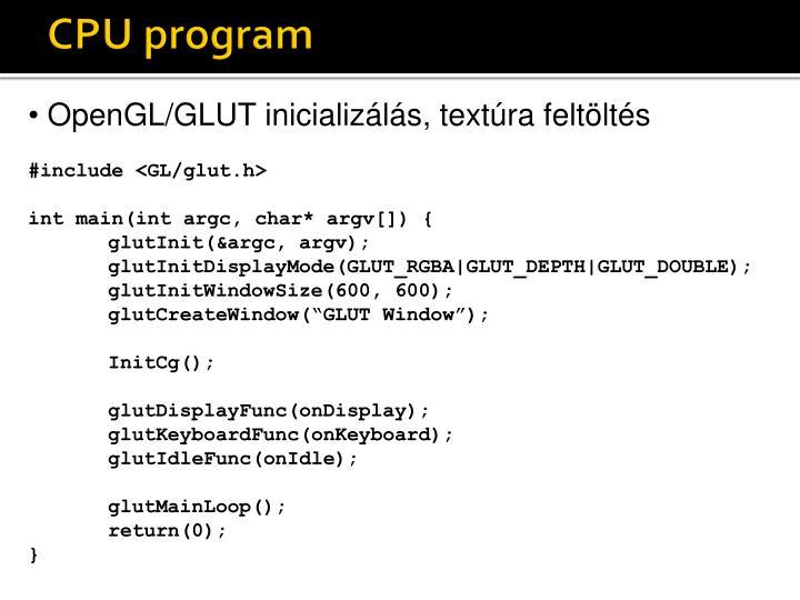 CPU program