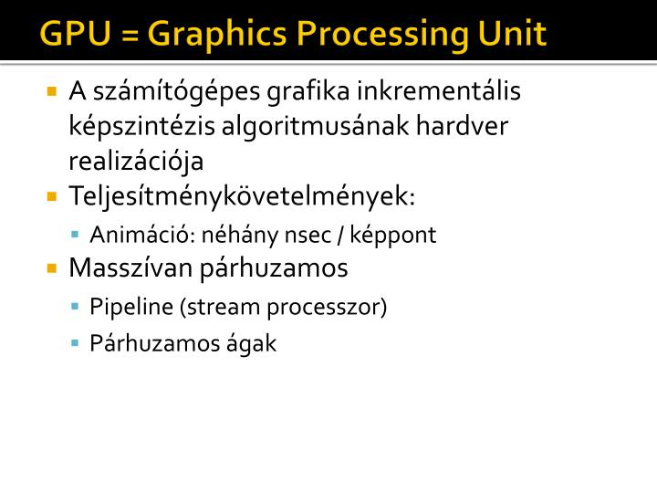Gpu graphics processing unit