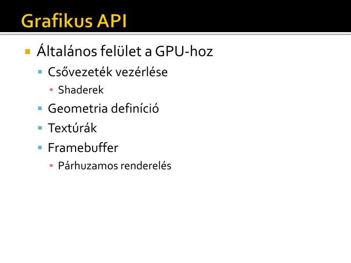 Grafikus API