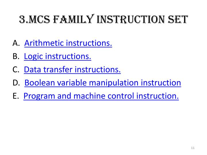 3.Mcs Family Instruction Set