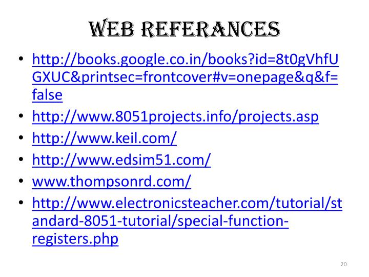 WEB REFERANCES