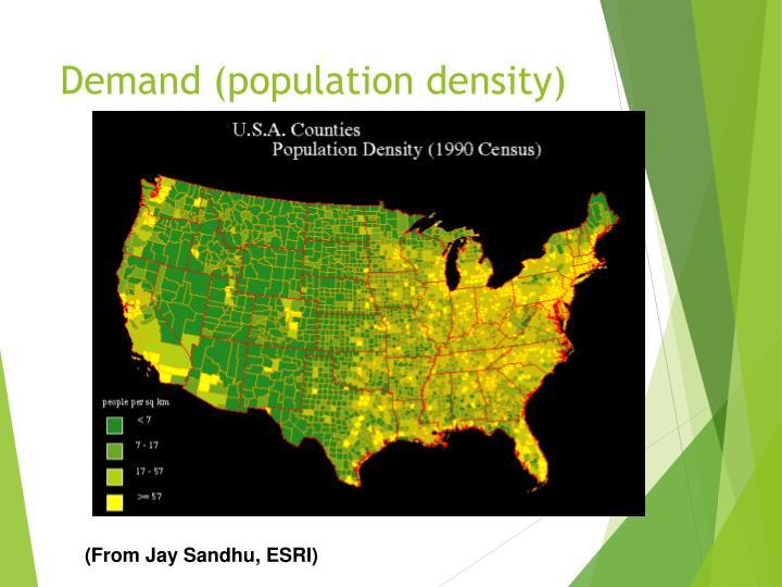 Demand (population density)