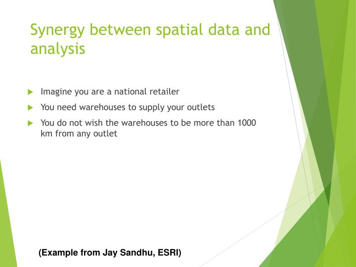 Synergy between spatial data and analysis