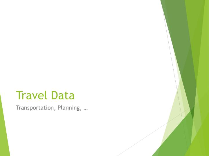 Travel Data