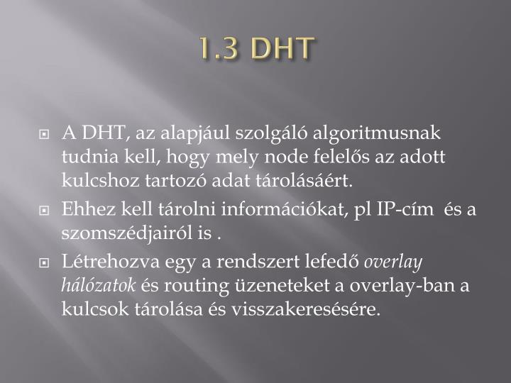 1.3 DHT