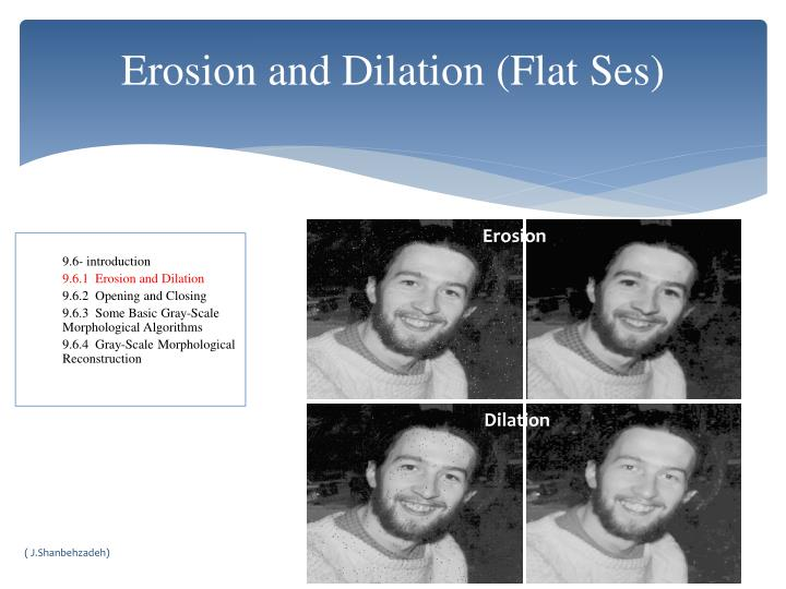 Erosion and Dilation (Flat