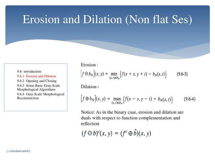 Erosion and Dilation (Non flat