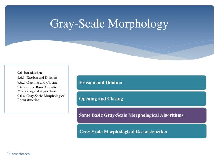 Some Basic Gray-Scale Morphological Algorithms