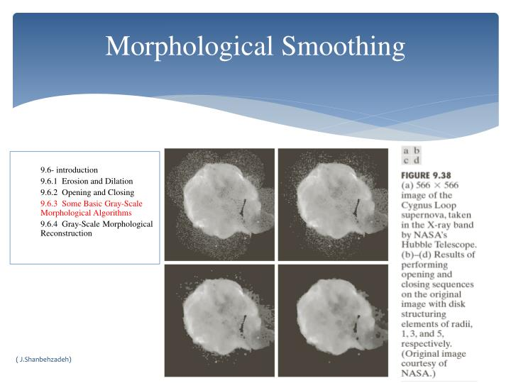 Morphological Smoothing
