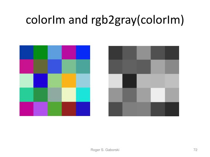 colorIm and rgb2gray(colorIm)