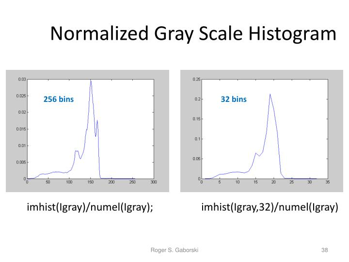 Normalized Gray Scale Histogram