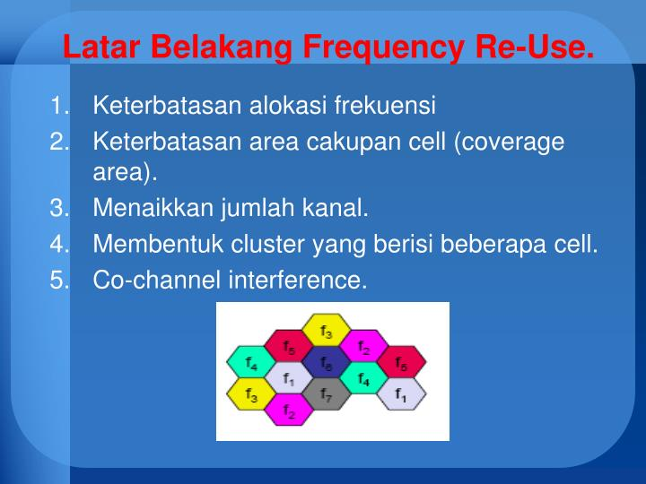 Latar Belakang Frequency Re-Use.