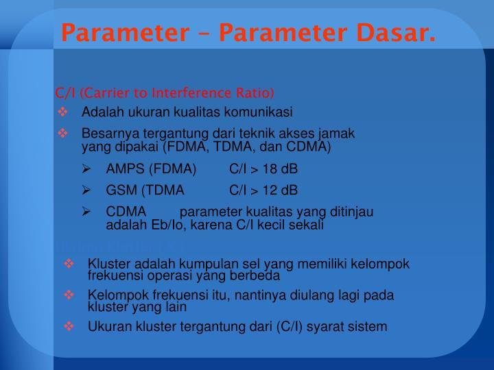 Parameter – Parameter Dasar.