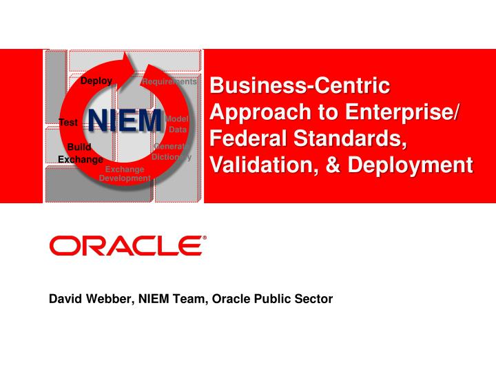 David webber niem team oracle public sector