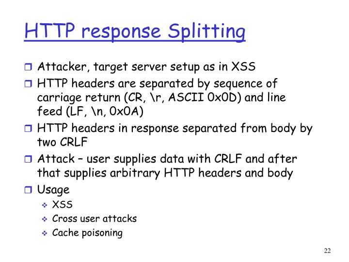 HTTP response Splitting