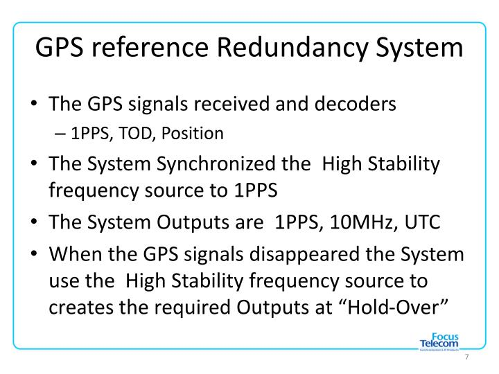 GPS reference Redundancy