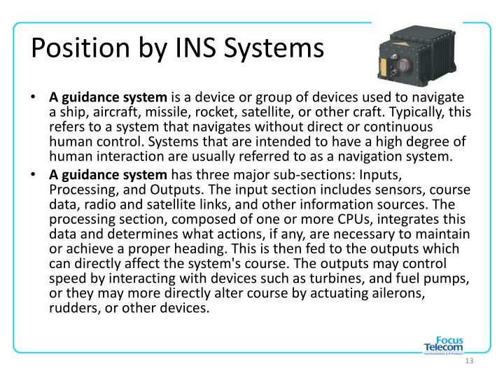 Position by INS Systems