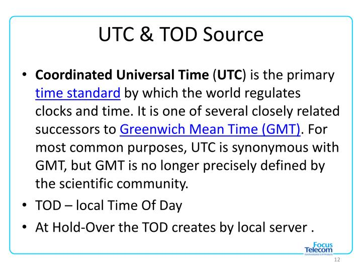 UTC & TOD Source