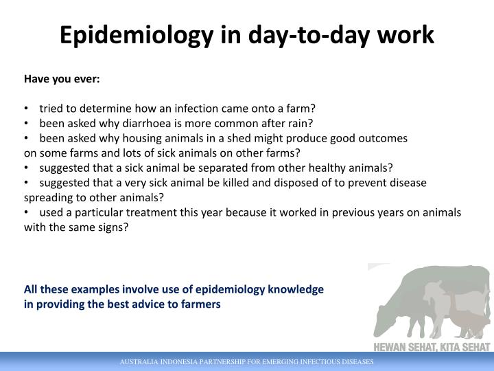 Epidemiology in day-to-day work
