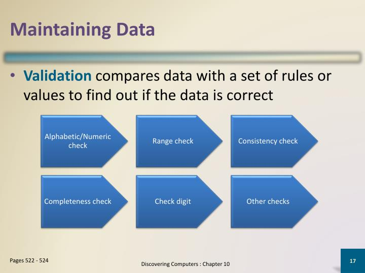 Maintaining Data